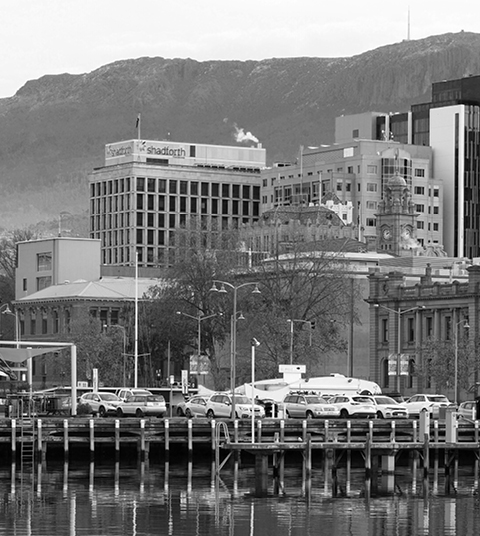 Harbour of Tasmania with the CBD in the background